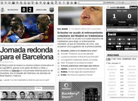 Marca.com ayer por la noche